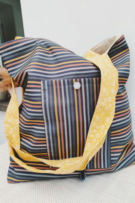 Pocket-bag Rayas Navy
