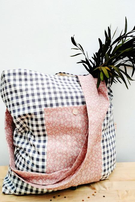 Pocket-bag vichy gris